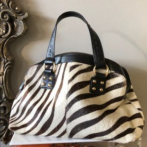 Handbags - Zebra print leather bag